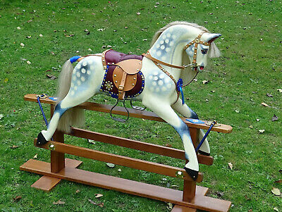 Collinson's Classic Vintage Wooden Rocking Horse - Expertly Restored • 1,500£