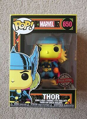 Funko POP! Marvel - THOR Black Light Special Edition #650 NEW • 21.99£