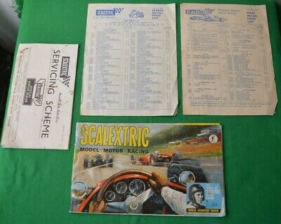 VINTAGE 1960s SCALEXTRIC 7th EDITION CATALOGUE + OTHERS !!!!!!!! • 9.99£