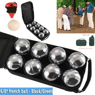 NEW! 6/8pcs French Boules Petanque Balls Garden Game Set With Carry Case UK • 17.98£