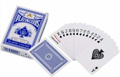 Plastic Coated Decks Of Professional Playing Cards Poker Size Various Colours UK • 3.59£