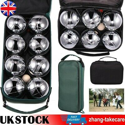 8/6 French Ball Stainless Steel Boules Set Petanque Outdoor Garden Game Portable • 16.99£