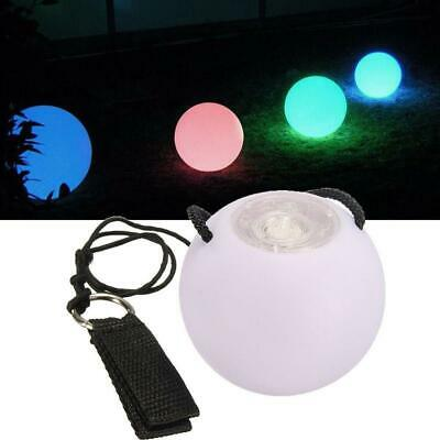 LED Multi-Coloured Glowing POI Thrown Balls For Belly Dance Hand Prop RE • 6.37£
