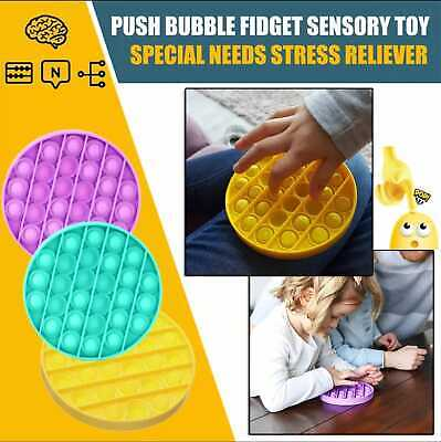 Push Pop Pop Bubble Sensory Fidget Toy Autism Special Needs Silent Classroom UK • 5.99£