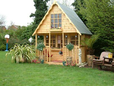 2 Storey Wooden Playhouse/wendy House/play House/ 8ft X8ft  Swiss Chalet • 1,280£
