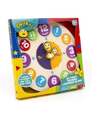 CBeebies My First Learning Clock Wooden Educational Toy Kids Children • 3.99£