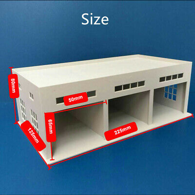 Outland Models Miniatures 3 Stall Large Garage For Trucks / Cars Model 1:64 Gray • 19.99£