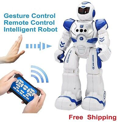 New Intelligent Robot RC Remote Control Smart Action Music Kids Toy Gift Blue UK • 16.99£