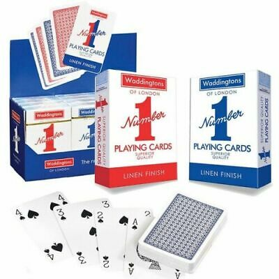 Waddingtons No.1 Classic Playing Cards Decks Of Red & Blue Poker Game Brand New • 4.89£