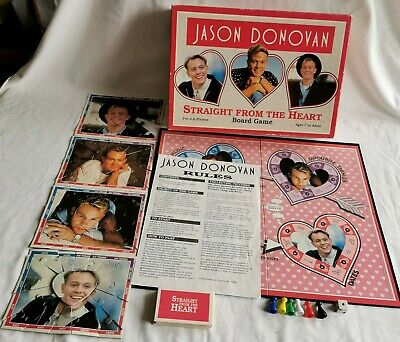 Vintage Jason Donovan Straight From The Heart Board Game. Rare Great Game • 12.99£