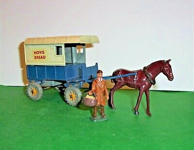 ULTRA RARE CHARBENS 1950's HOVIS BREAD DELIVERY VAN / CART COMPLETE WITH BAKER • 144.99£