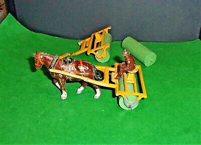 1950's CHARBENS HORSE DRAWN GRASS ROLLER WITH DRIVER + Extras • 4.99£