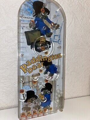 Paddington Bear Pinball Bagatelle Game 1976 Very Good Condition With Base Pegs • 19.95£