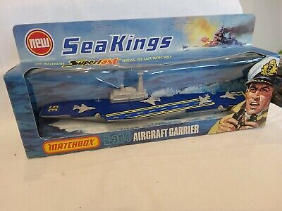 MATCHBOX SEA KINGS WATER LINE MODEL K-304 AIRCRAFT CARRIER 4 AIRCRAFT Boxed Mint • 30£