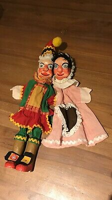 Punch And Judy Puppets , Wooden Hand Carved • 50£