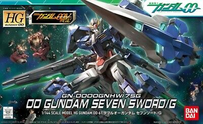 Bandai Model Kit - Hg 00 Gundam Seven Sword/g 1/144 - Gunpla • 26.45£