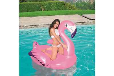 BESTWAY FLAMINGO RIDER POOL FLOAT RIDE ON 1.27M X 1.27M 4112 AGES  3+ • 31.75£