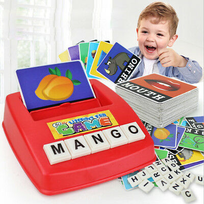 1Set Early Children Educational Toy Fun Learning English Spell The Word Game  OS • 9.37£