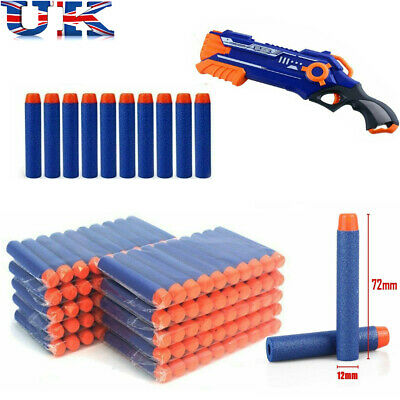 100 500 Pcs Gun Soft Refill Bullets Toy Darts Round Head Blasters For Nerf Uk • 17.99£