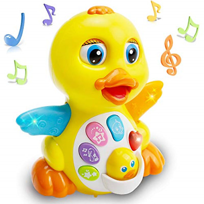 EARSOON Dancing Walking Electric Duck Smart Toys With Music And LED Light Cute & • 22.84£