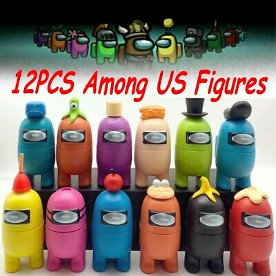 12PCS Among Us Game Action Figures Toys Separable Cake Topper Kids Xmas Gifts UK • 18.99£