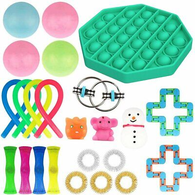 24PC Fidget Sensory Toys Set Autism ADHD Stress Relief Special Need Education UK • 15.97£