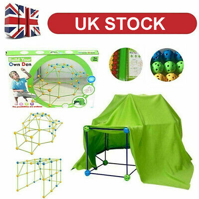 Building Your Own Den Kit Play Construction Fort Tent Making Set Builder Toy UK • 20.02£