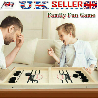 Hockey Game Fast Sling Puck Paced Game Family Game Table Board Interactive Toy • 11.10£