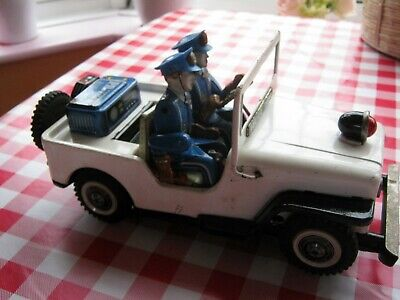 Vintage Tinplate Nomura (TN) Japan Battery Operated Police Jeep For Restoration  • 29.60£