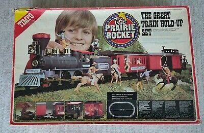 Timpo The Prairie Rocket - The Great Train Hold Up Set In Original Box. Vintage. • 119£