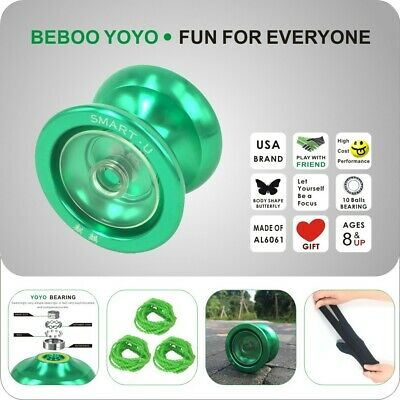 Outdoor Sports Toys Yoyo Ball Cool Aluminum Alloy Chain Professional Bearing • 10.85£