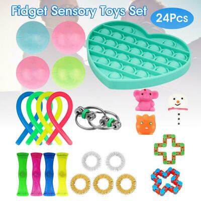 24PCS Fidget Sensory Toys Set Autism ADHD Stress Relief Special Need Education • 12.99£