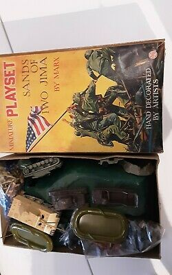 1960's MARX SANDS OF IWO JIMA MINIATURE PLAYSET Hand Decorated  • 13.50£