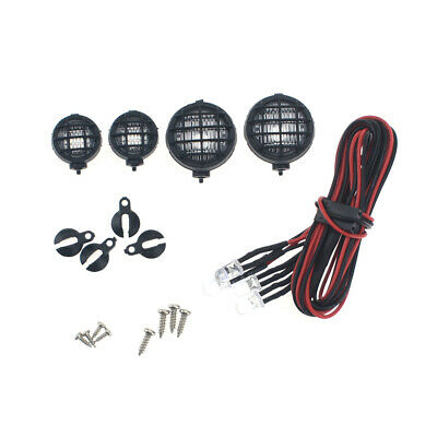 4Pcs LED Light Cup 18mm & 12mm LED Lamp Kits For 1/10 RC Car RC4WD AXIAL Crawler • 6.69£