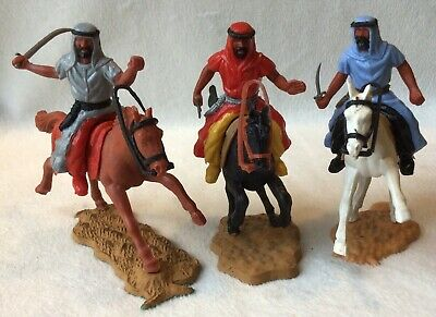 Vintage Timpo, 1970's, Mounted Arabs X 3, (One Grey) 54mm Scale Plastic • 14.99£