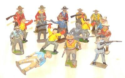 CI07 Lot Of Lead Wild West Cowboys • 9.99£