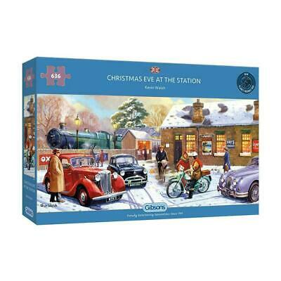 Gibson Jigsaw Puzzle 636 Piece Panoramic - Christmas Eve At The Station • 13.99£