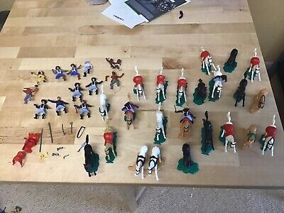 Timpo Cavalry, Cowboy And Indians  1:32 Scale 1970's Soldiers Lot 1  • 14£