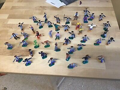 Timpo Cavalry, Cowboy And Indians  1:32 Scale 1970's Soldiers Lot 2  • 14£
