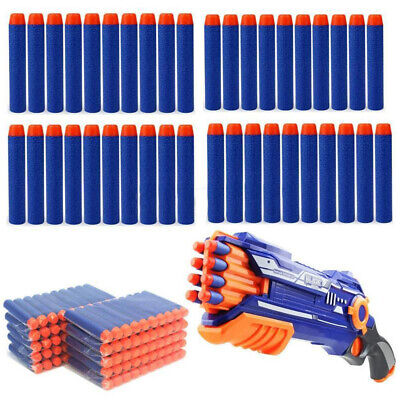 100pcs Gun Refill Bullets Toy Darts Round Head Blasters For Nerf N-strike  • 3.99£