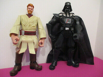 STAR WARS DARTH VADER & OBI WAN  7  Chunky Figure Toy Figure For Younger Kids • 2.99£