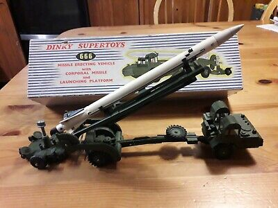 Dinky Military Boxed 666 Missile Erecting Vehicle, Missile, Launch Platform • 70£