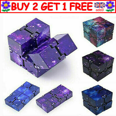 Sensory Infinity Cube Stress Fidget Toys For Autism Anxiety Relief Kids Adult R3 • 4.39£