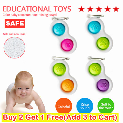 Baby Simple Dimple Sensory Toys--Silicone Flipping Board Brain Teasers Best Gift • 4.39£