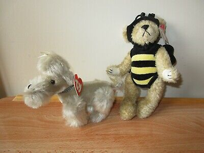 2 X Ty Attic Treasures Collection 1993 Beezee & Babette 2000 With Tags • 9.99£