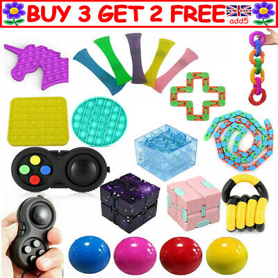 Fidget Toys Set Sensory Tools Bundle Stress Relief Hand Kids Adults ADHD Toy R3K • 5.25£