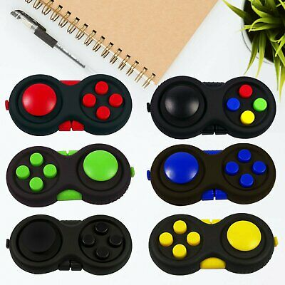 3D Hand Fidget Pad Children ADHD/Anxiety Cube Toy Time Stress Relief Finger Toys • 3.99£