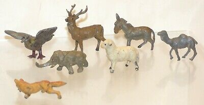 CL02 Lot Of Solid Lead Probably German, Animals. Fox 40mm Long 7pcs • 24.99£