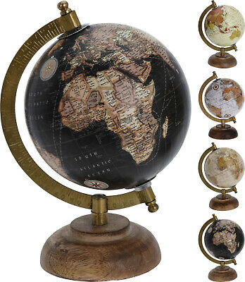 22cm Vintage Style Rotating Globe Swivel Map Earth Geography Atlas World Gift • 11.29£
