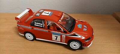 Hornby Scalextric Analogue Mitsubishi Lancer Rally Car WRC Red  • 12.74£